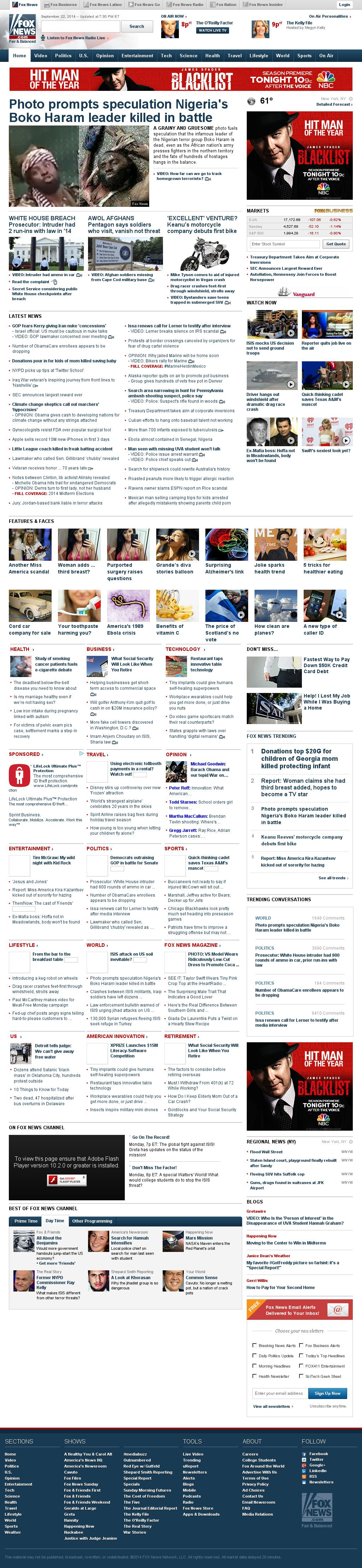 Fox News at Tuesday Sept. 23, 2014, 1:07 a.m. UTC