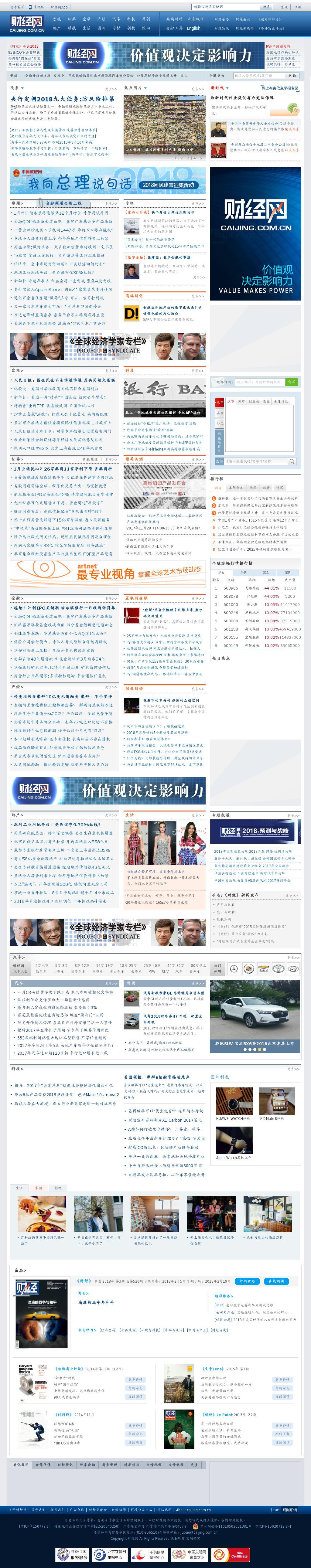 Caijing at Wednesday Feb. 7, 2018, 11:01 a.m. UTC