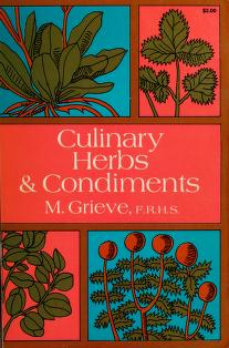 Culinary herbs and condiments by Maud Grieve